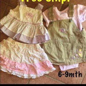 6-9 mth baby girl set